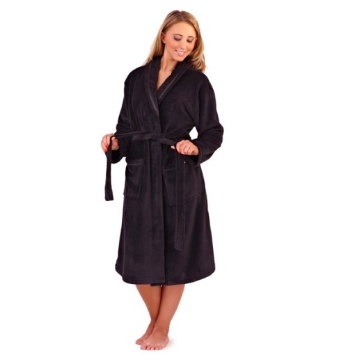 2d50c80f07 WOMENS FULL LENGTH FLEECE BATH ROBE DRESSING GOWN HOUSECOAT+ BELT ...