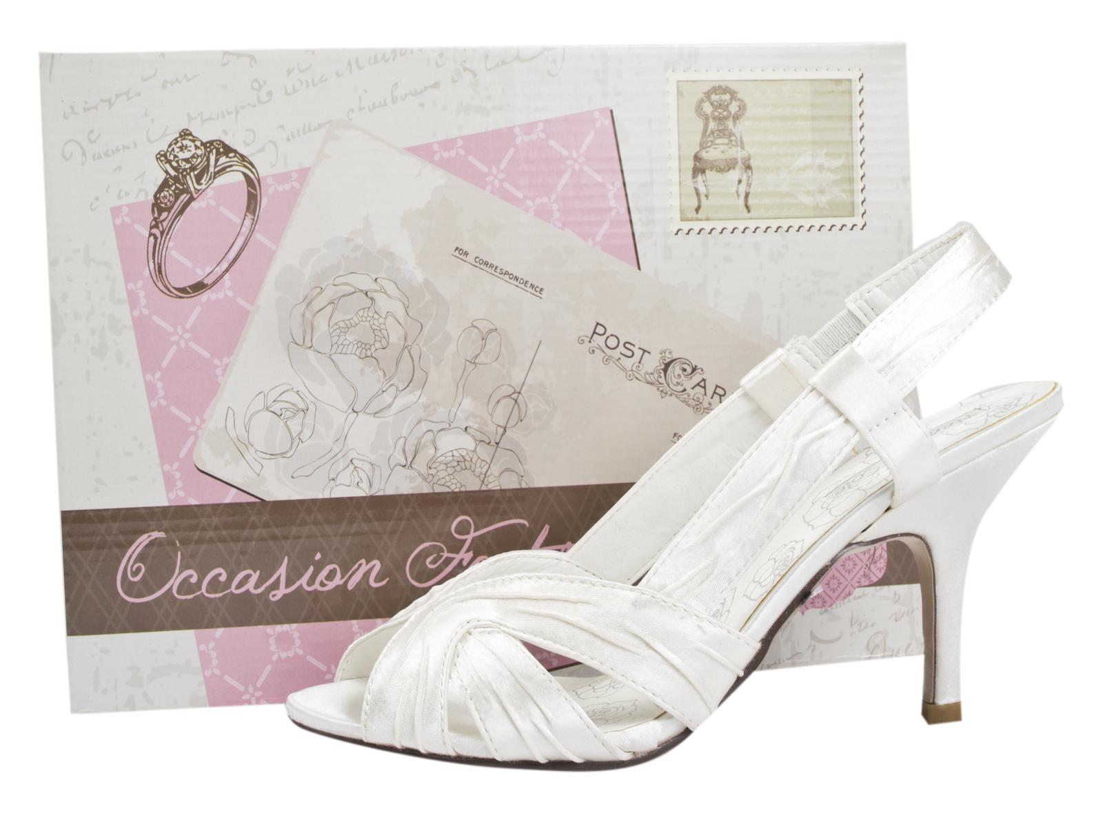 a5fafa1b8ac Womens Satin Bridal Wedding Shoes Stiletto High Heels Strappy Prom ...