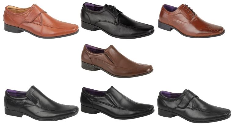 f7dd545951fd Mens Boys Faux Leather Formal Shoes Work Office School Comfort Shoe ...