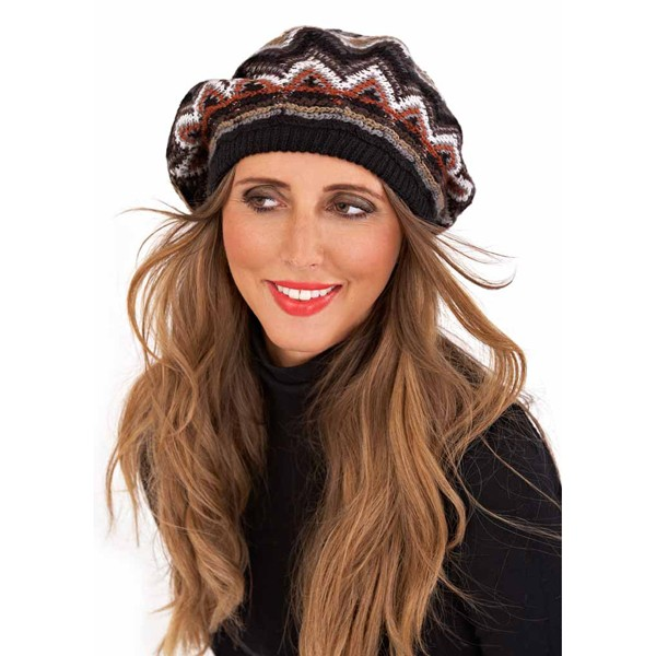 bb6ef040a0f9 WOMENS KNITTED TRIANGLE BERET HAT GLOVES SNOOD SCARF SET WINTER XMAS ...