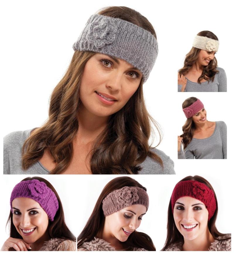 WOMENS GIRLS LADIES WOOL KNITTED HEADBAND WINTER SKI HAIR BAND ... cccaa62452dc