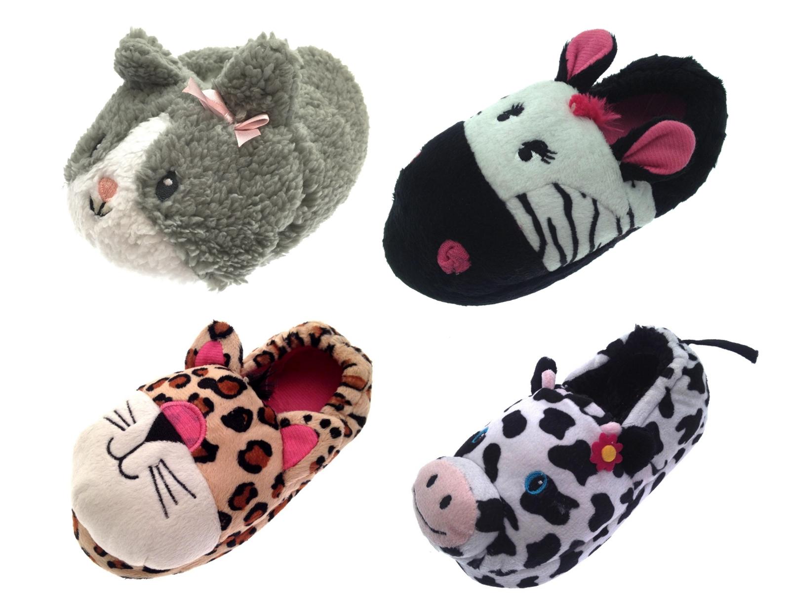 SlumberzzZ Girls Novelty 3D Cat Design Fullback Slippers