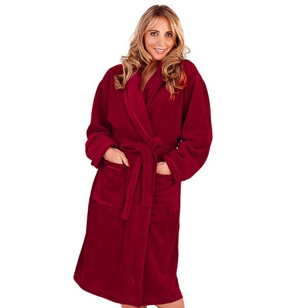 LUXURY WOMENS FULL LENGTH BATH ROBE DRESSING GOWN HOUSECOAT BELT ... 18b67c22c7