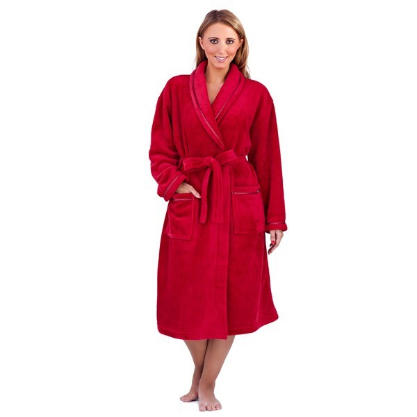 Luxury Womens Full Length Bath Robe Dressing Gown Housecoat Belt