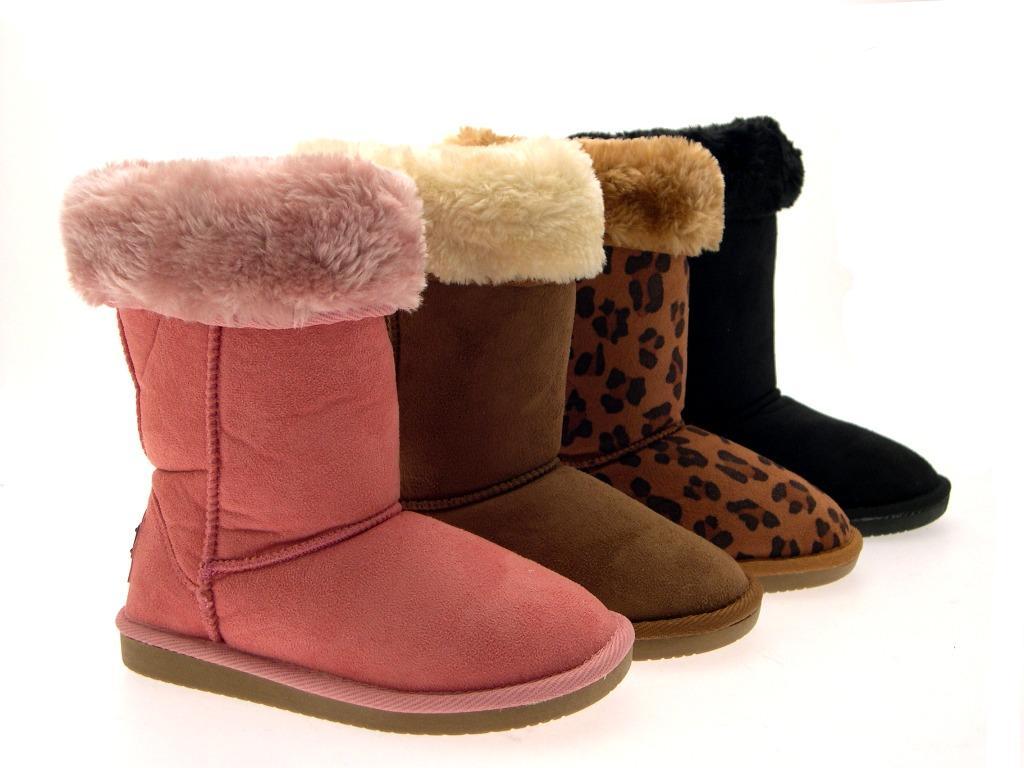 Girls Mid Calf  Winter Snow Kids Boot