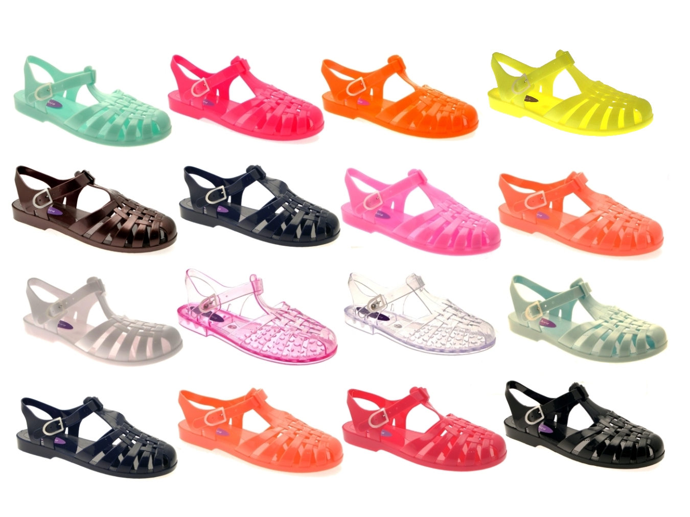 Well-known WOMENS JELLY CUT OUT SANDALS LADIES FLAT JELLIES SUMMER BEACH  SK03