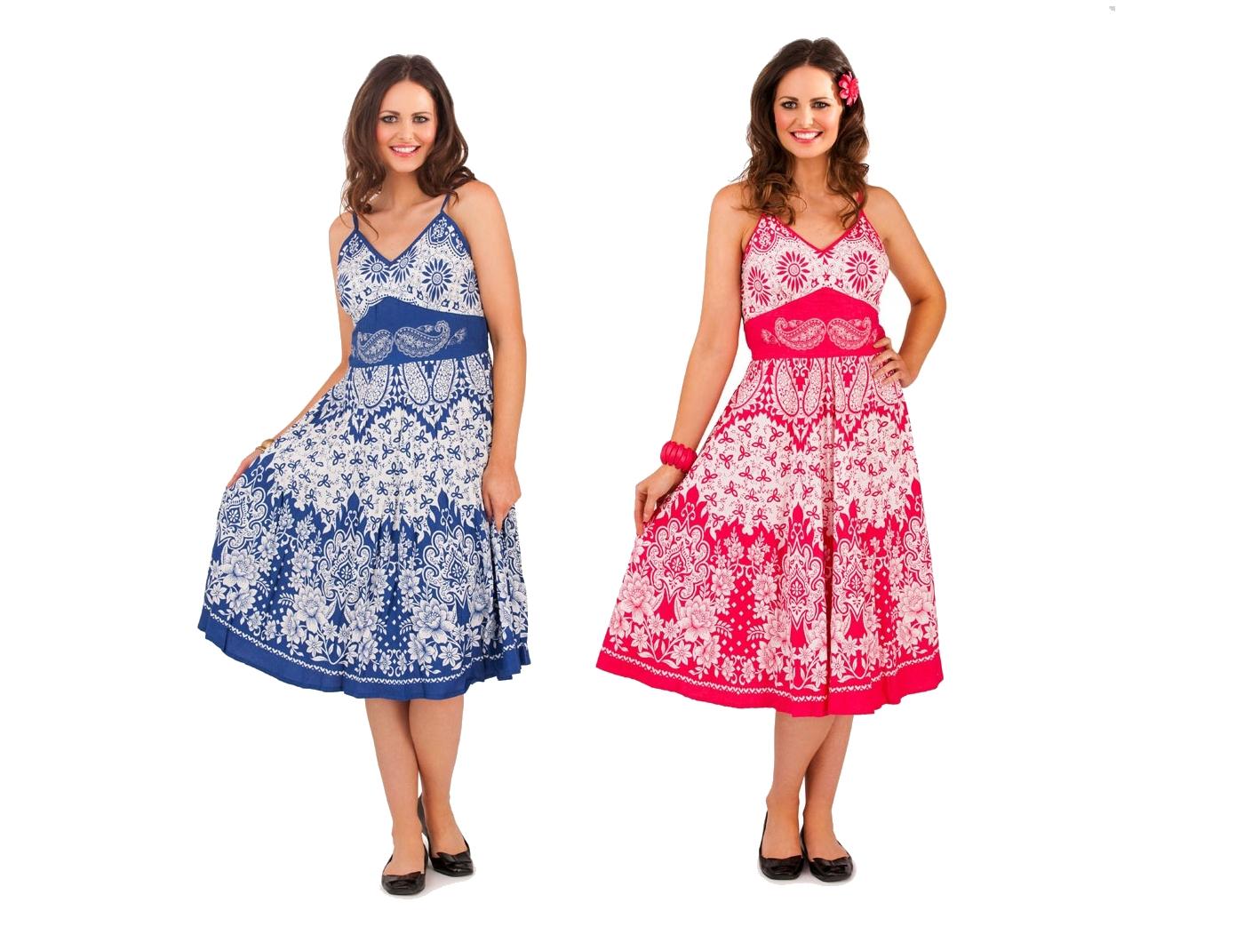 d27a941667 Pink Knee High Summer Dress - Data Dynamic AG