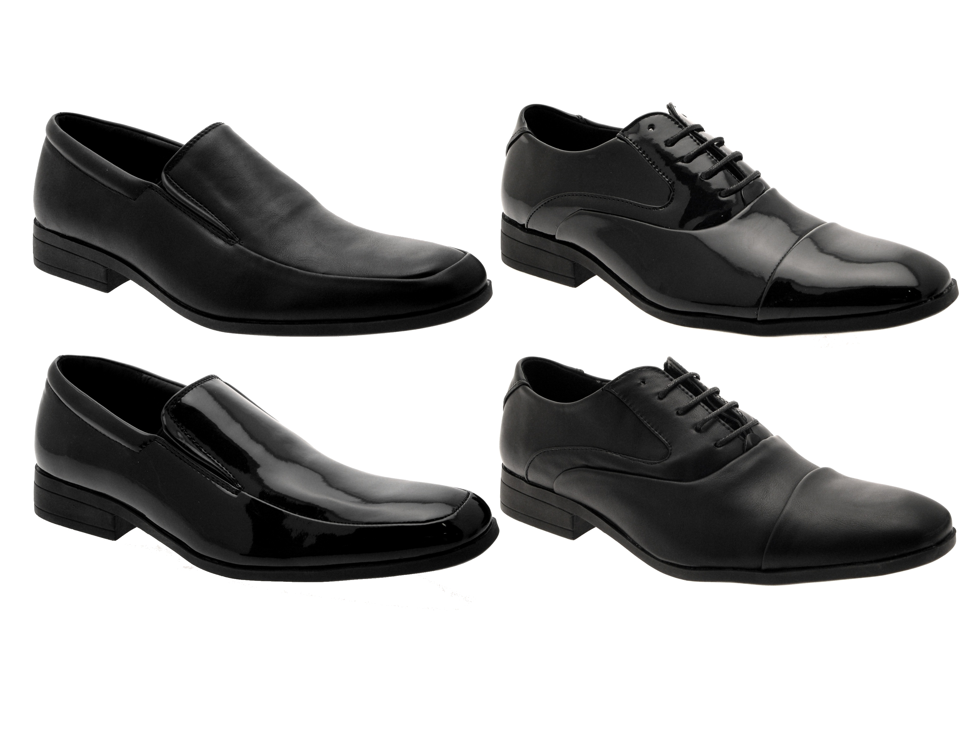 Mens Smart Oxford Lace Ups Loafers Slip On