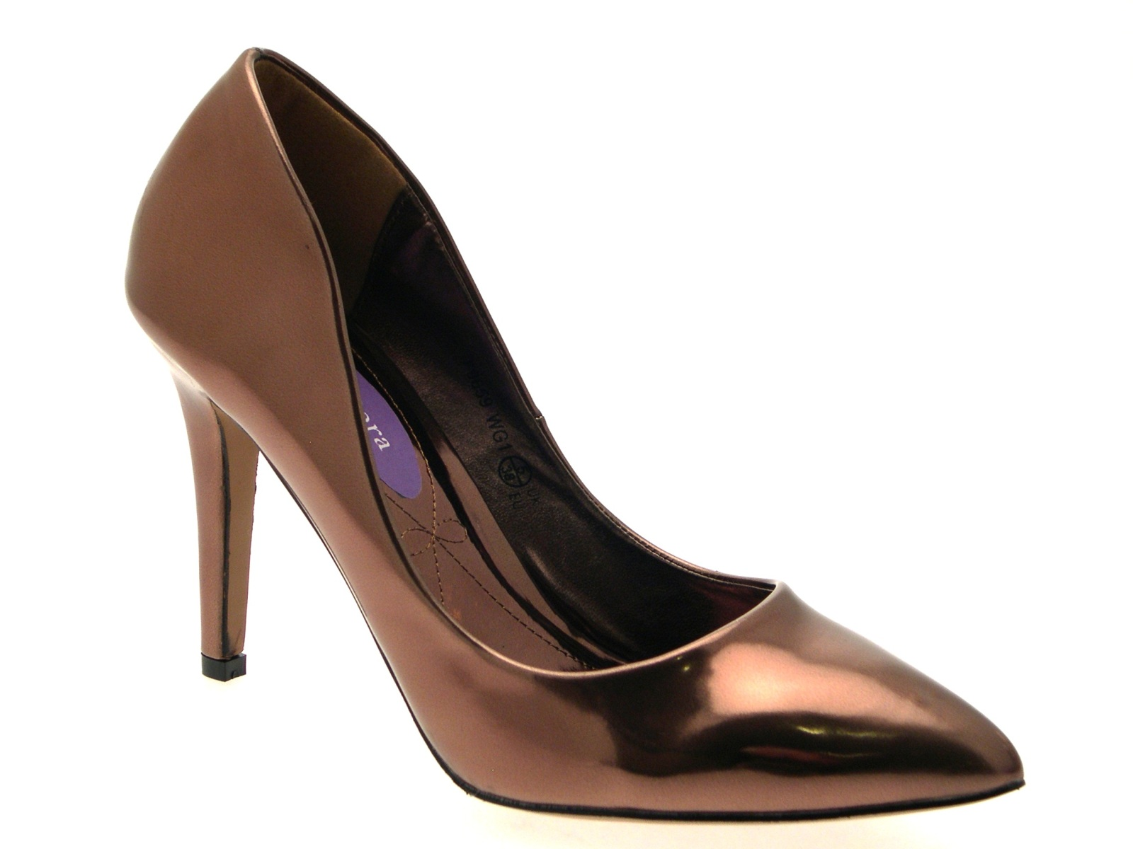 Womens-Metallic-Pointed-Toe-Court-Stiletto-High-Heels-Ladies-Work-Office-Shoes thumbnail 4