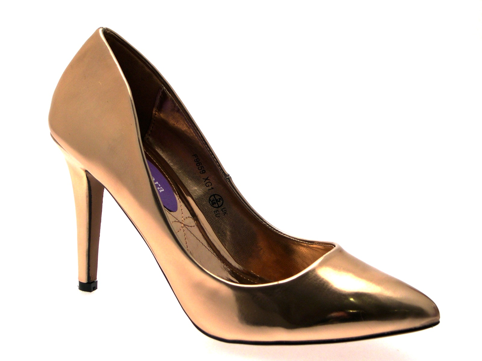 Womens-Metallic-Pointed-Toe-Court-Stiletto-High-Heels-Ladies-Work-Office-Shoes thumbnail 18