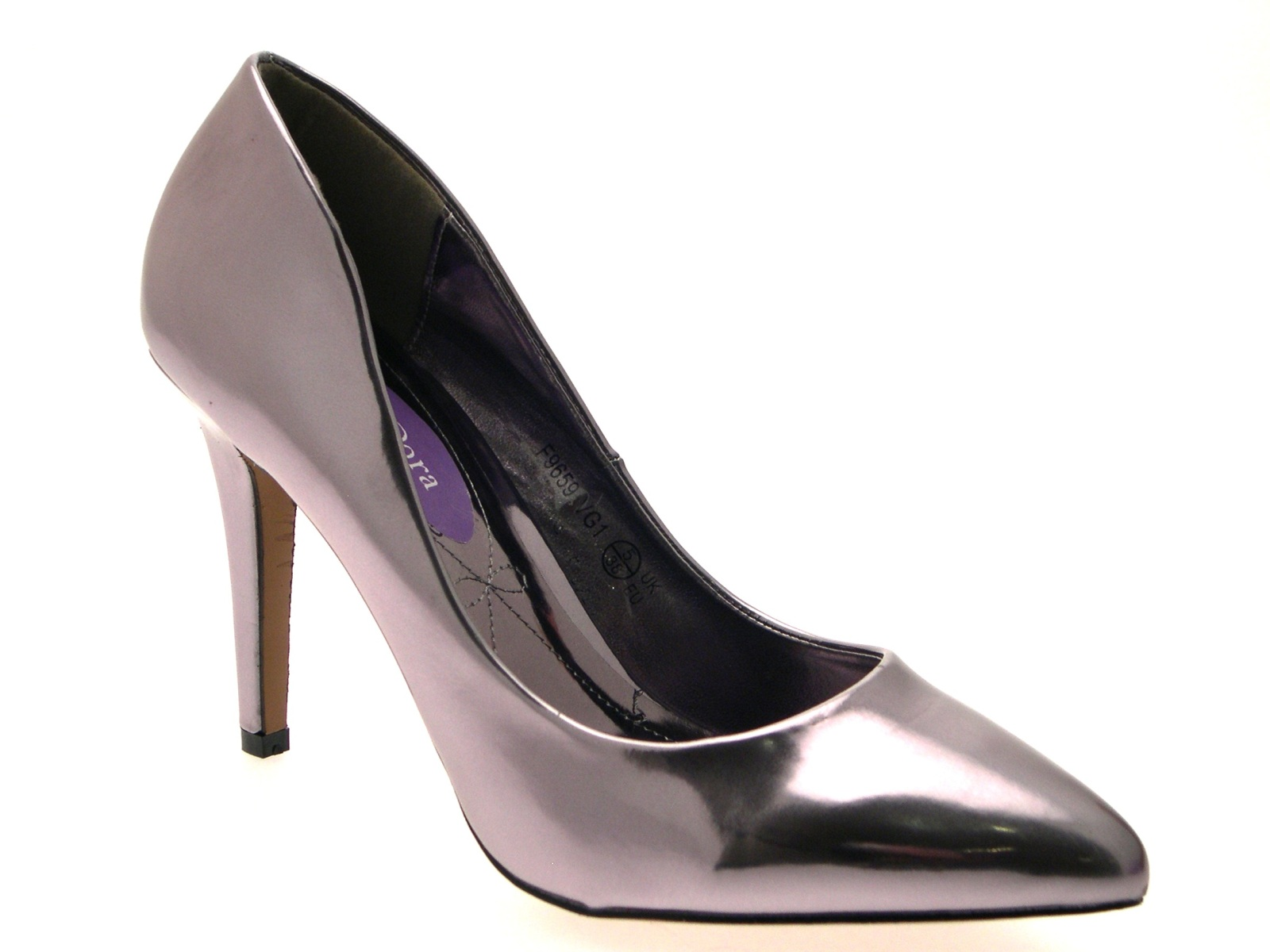 Womens-Metallic-Pointed-Toe-Court-Stiletto-High-Heels-Ladies-Work-Office-Shoes thumbnail 34