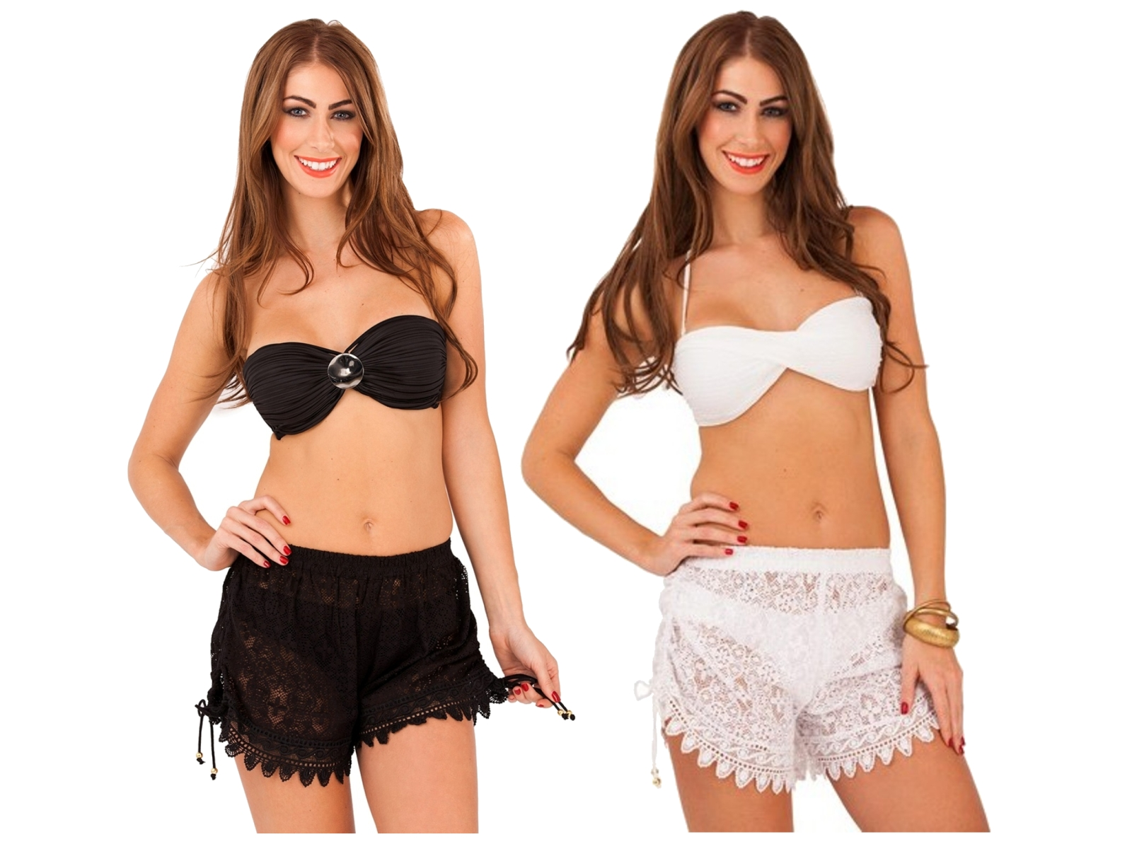 Womens Crochet Shorts Cover Up Summer Ladies Lace Beachwear Holiday Size Uk  8-14 49fdff5c5a