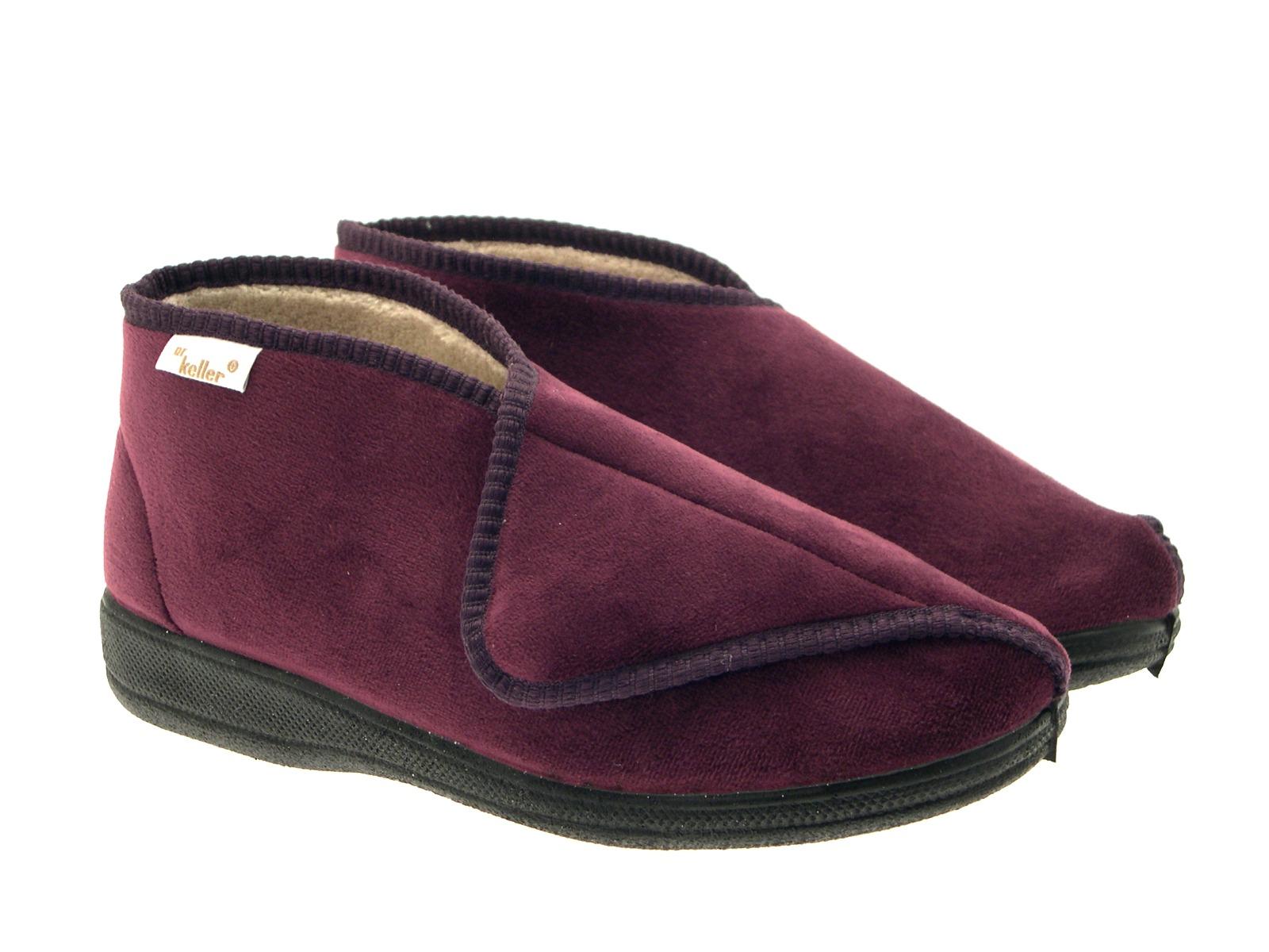 b461d7027693 Dr Keller Wide Fit Comfort Slippers Diabetic Orthopaedic Booties ...