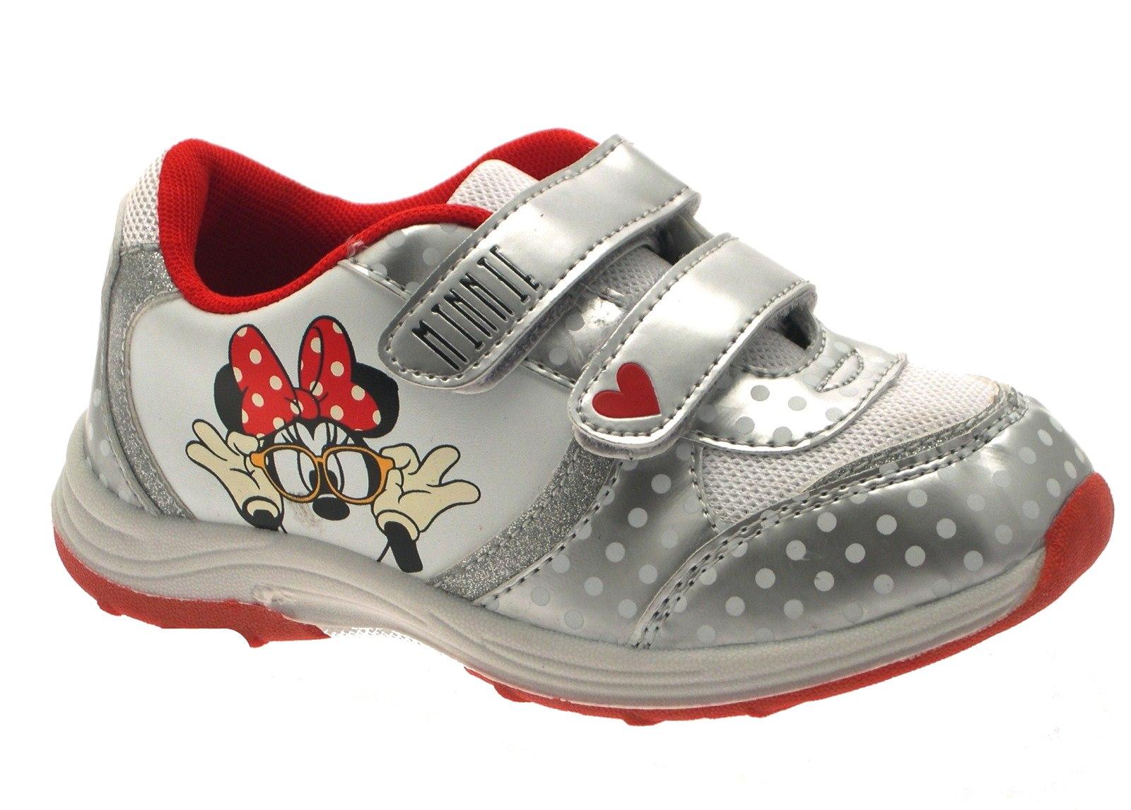 80d0c8f8382 Girls Disney Minnie Mouse Trainers Flat Pumps Childrens Shoes Size UK 10 -  2.5