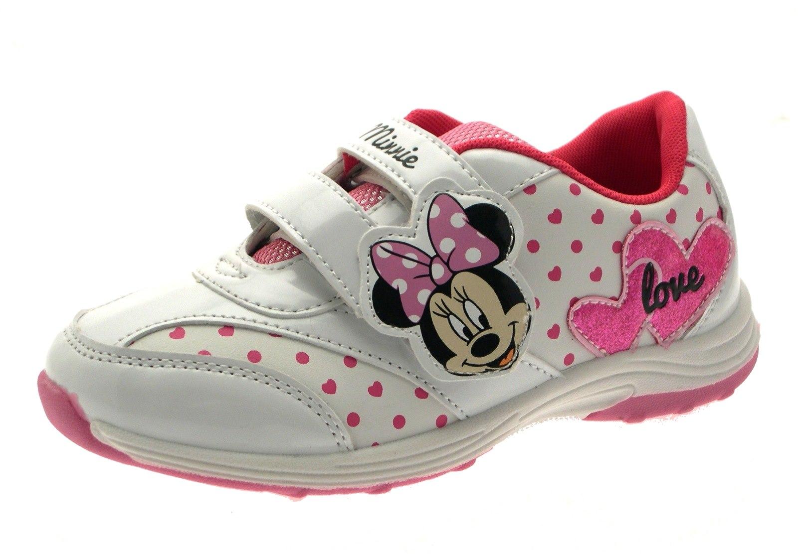 6e5a934af9d8 Minnie Mouse Girls Canvas Pumps Boots Trainers Slippers Clogs Kids ...