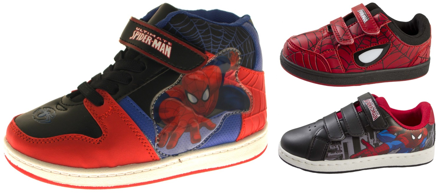 3217cf8b8cfeb Kids Boys Spiderman Skate Trainers Lace Up Hi Top Boots Sports Shoes Size  UK 7-1