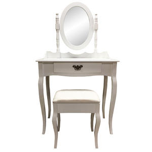 Dressing Table Set with Adjustable Mirror & Stool - Bedroom Dresser Preview