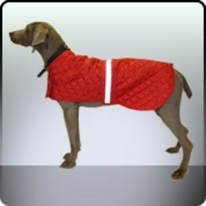 Dog Coat Red Reflective Showerproof Safety Jacket Preview