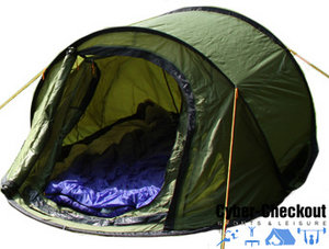 3 Man Pop up C&ing Tent Preview  sc 1 st  Cybercheckout & 3 Man Pop up Camping Tent | 3 Person Tent | cybercheckout.co.uk ...