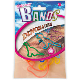 Kids Elastic Bands Wacky Lacky Fun Party Toy Shapes Childrens Dinosaurs 12 Pack Preview