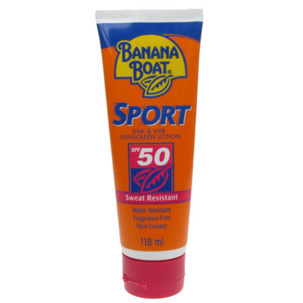 Banana Boat Sport Sweat Resistant SPF 50 Sun Lotion 118ml ...