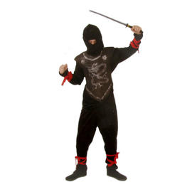Kids Ninja Fancy Dress Costume Childrens Japanese Warrior Full Outfit 6 - 8 Yrs Preview