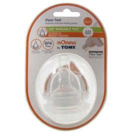 Tomy mOmma Bottle Teats Baby Flexi Fast Flow Anti Colic BPA Free 2 Pack Preview