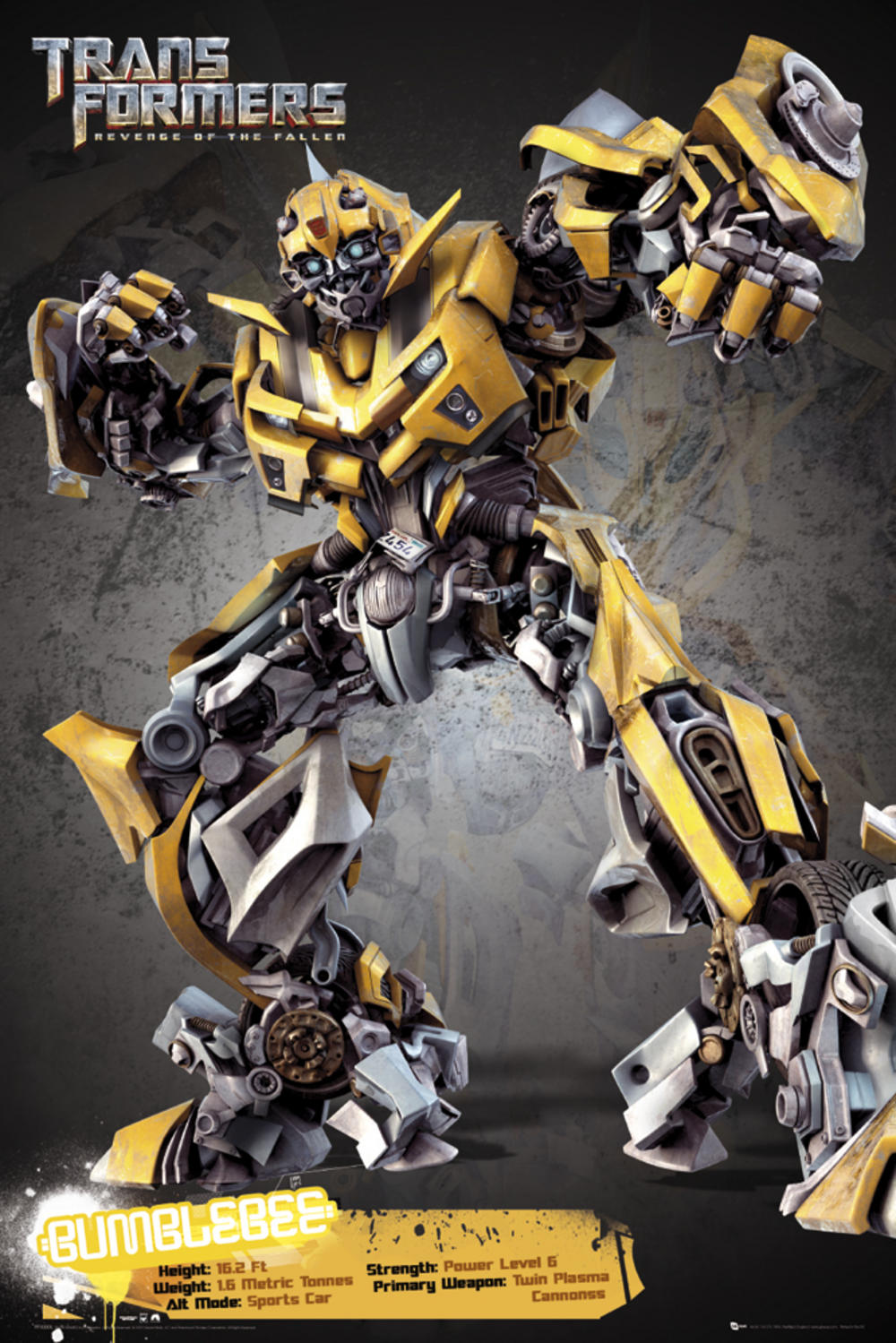 maxi poster transformers 2 bumblebee 61 x 91 5 cm 201 maxi poster 61cm x 24 x 36. Black Bedroom Furniture Sets. Home Design Ideas