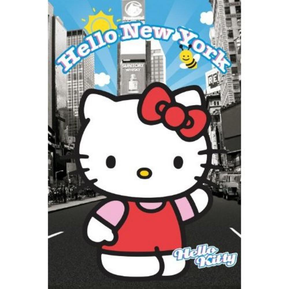 hello kitty new york maxi poster 61 cm x 91 5 cm 382 61cm x 24 x 36 inches. Black Bedroom Furniture Sets. Home Design Ideas
