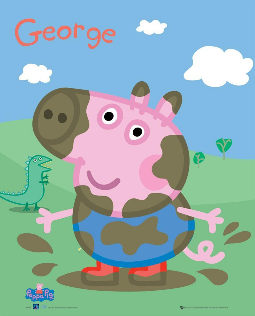 Poste 14448 B6486 Peppa Pig George Mini Poster 40cm X 50cm(796) on Peppa Pig Fairy Invitations And Free