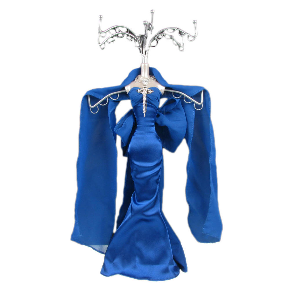Tree dress navy blue lady metal mannequin jewellery for Lady mannequin jewelry holder