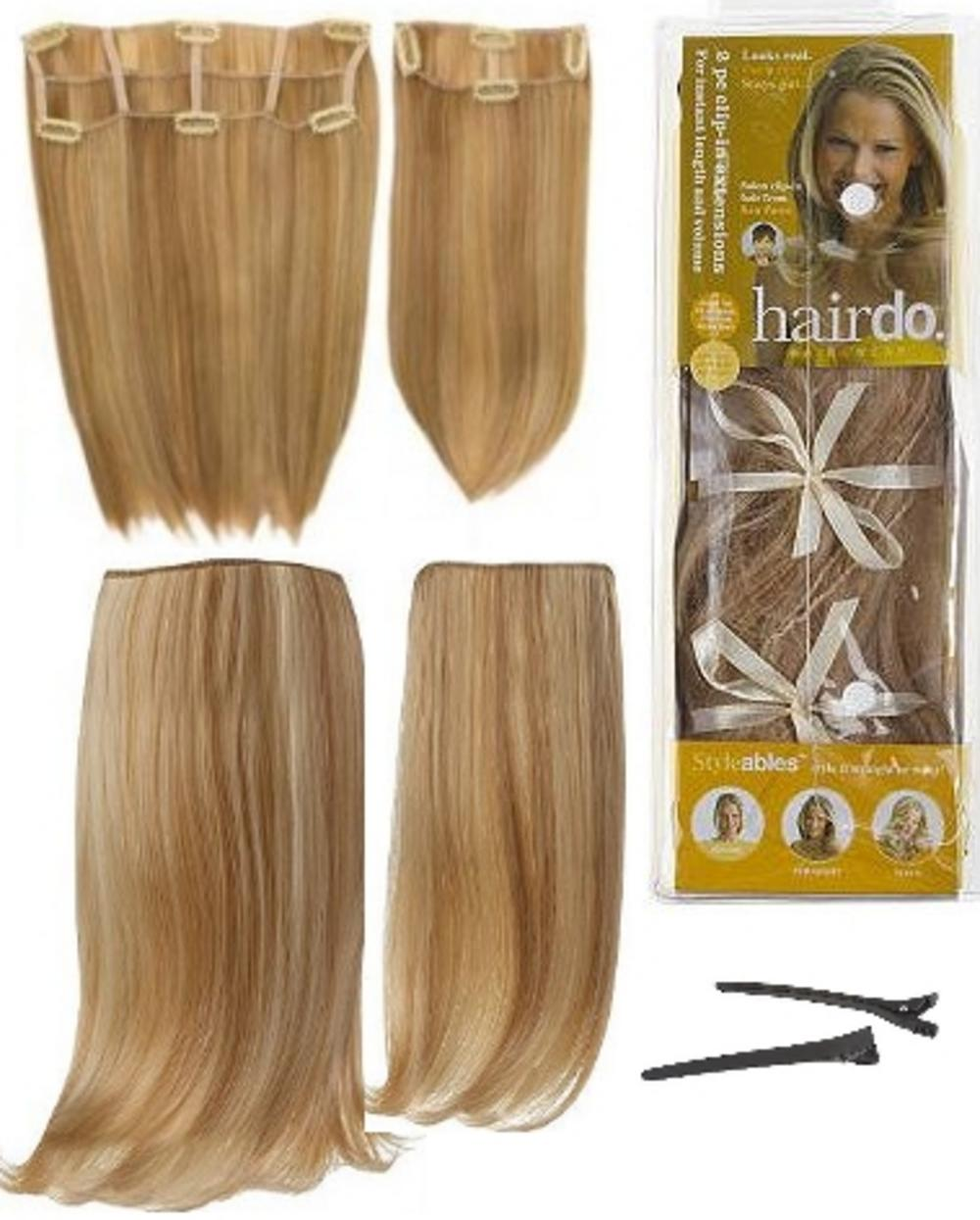 Hair Extensions Clip In 2 Piece Ken Paves Hairdo Sandy Blonde