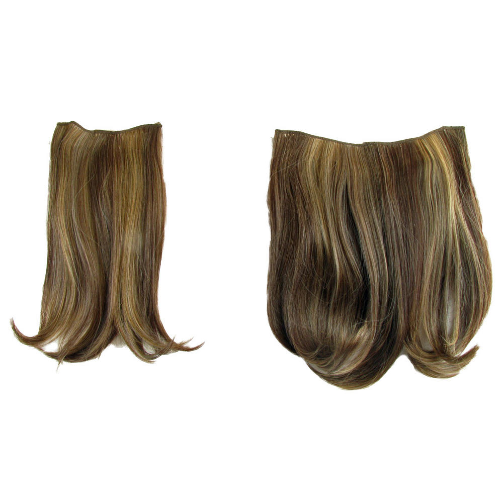 Hair Extensions Clip In 2 Piece Ken Paves Hairdo Golden Walnut