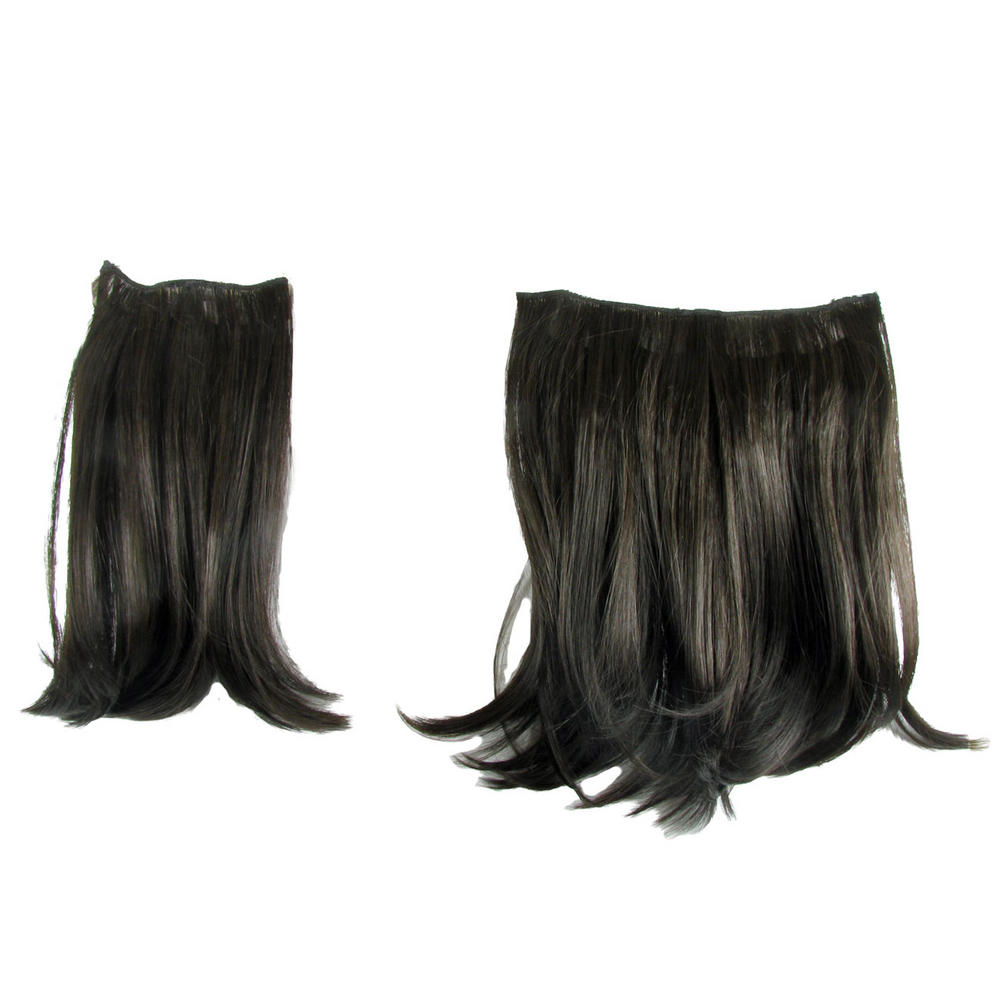 Ken Paves Hairdo 2 Two Piece Clip In On Hair Extensions Dark Brown