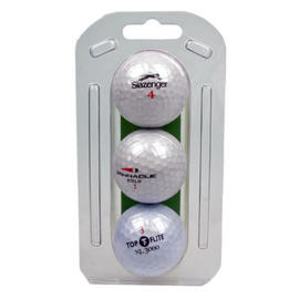 Lake 3 Pack White Golfing Golf Balls Sporting Accessories Preview