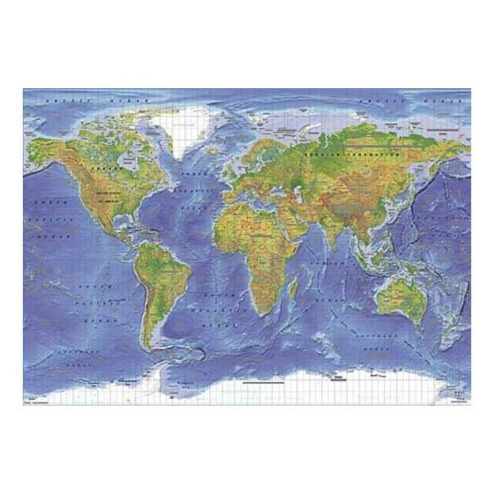 Maxi poster world map terrain physical 61 x 915cm 1092 thumbnail 1 gumiabroncs Images