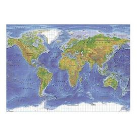 Maxi poster world map terrain physical 61 x 915cm 1092 maxi poster world map terrain physical 61 x 915cm 1092 pp30433 gumiabroncs Images