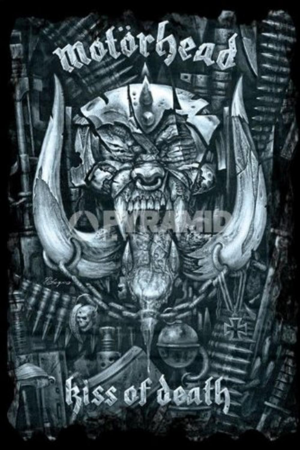 maxi poster - motorhead  kiss of death   61 x 91 5cm  1236