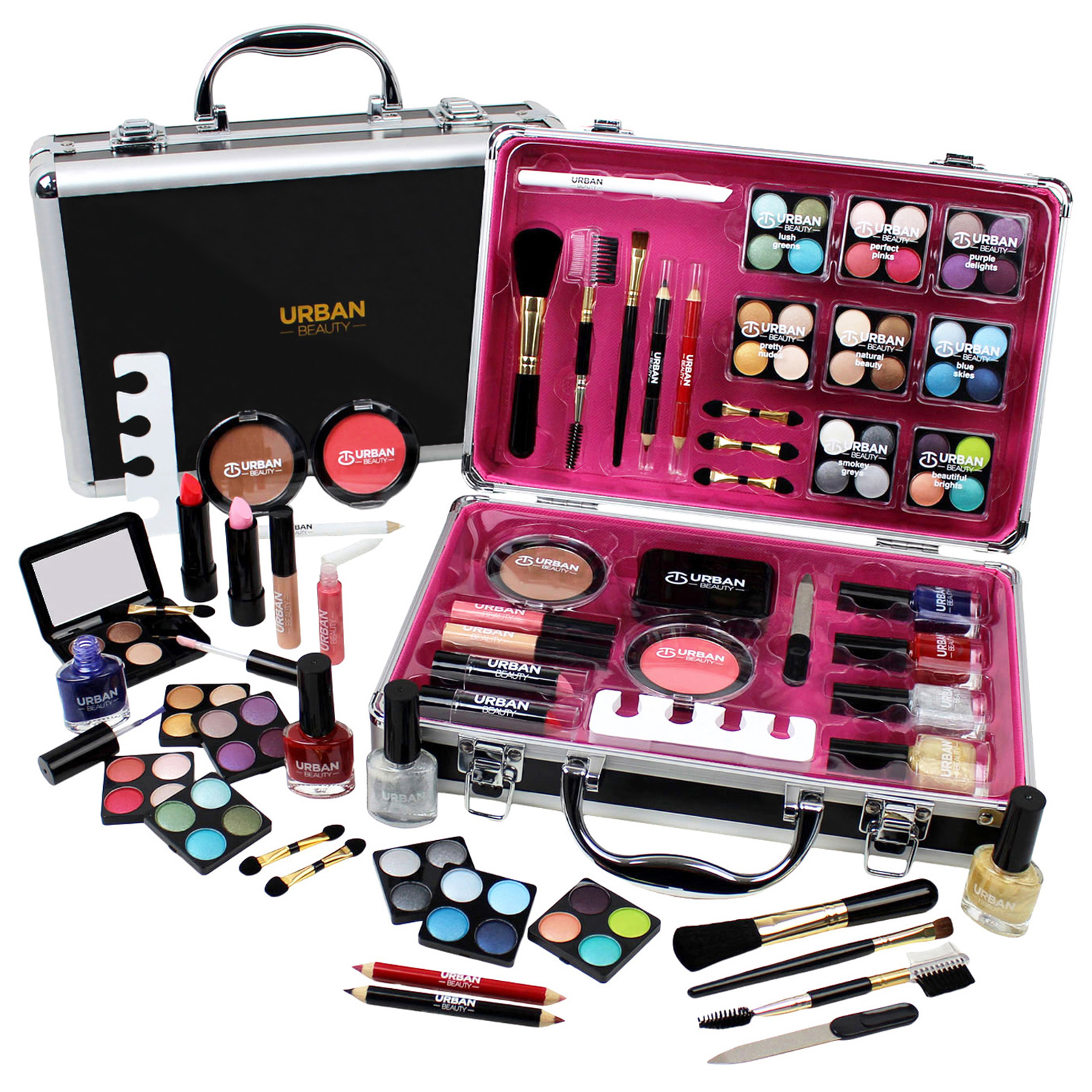 Professional Vanity Case Cosmetic Make Up Urban Beauty Box Gift Set 57 Piece a190a8f615ca