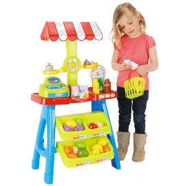 Toy Market Stall Toyrific Shop Play Kids Plastic Food Grocery Accessories 30pcs Preview