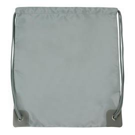 Bag Backpack Rucksack School Travel Drawstring Silver Gym Shoulder Swimming Preview