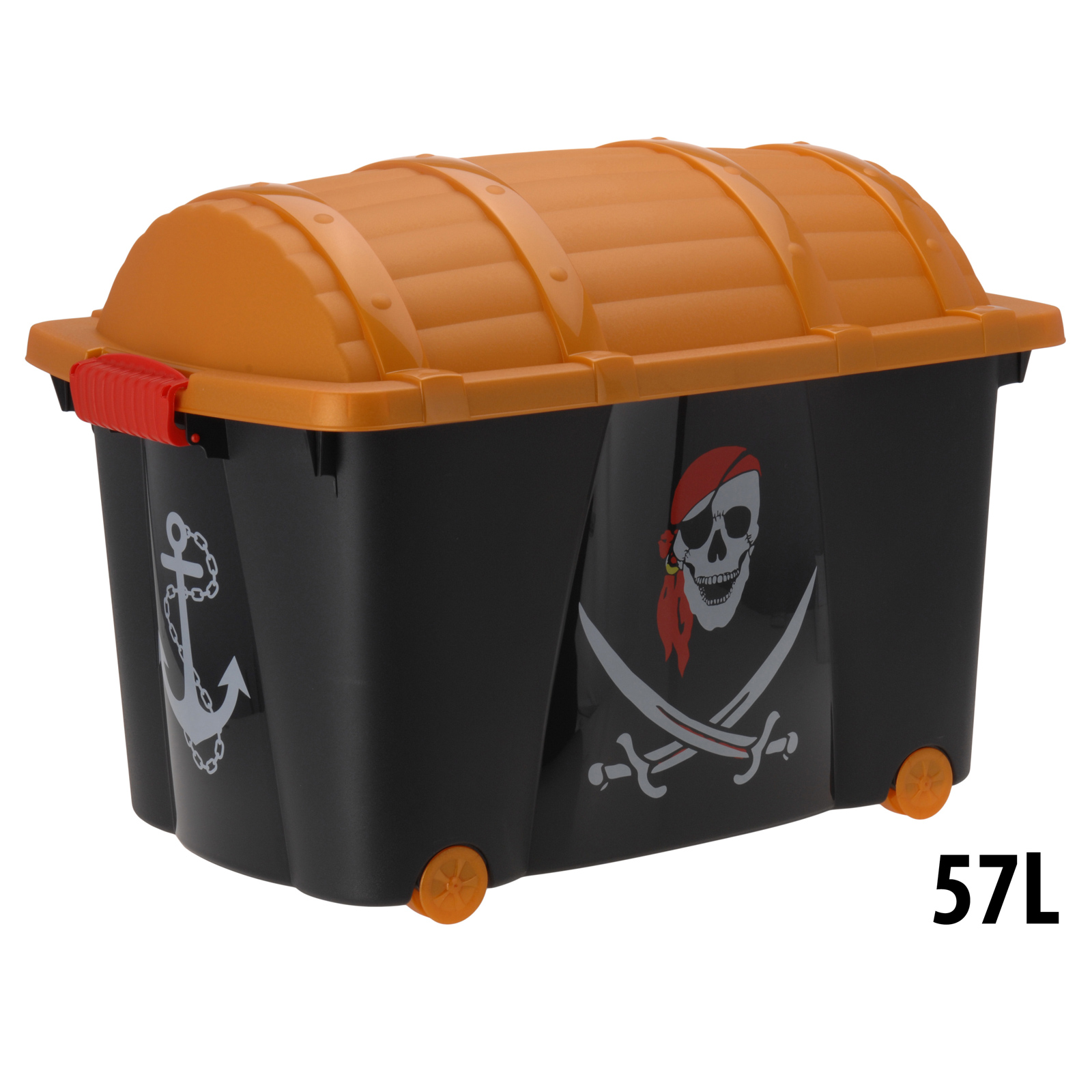 Toy Box Storage Pirate Chest Kids Childrens Organiser