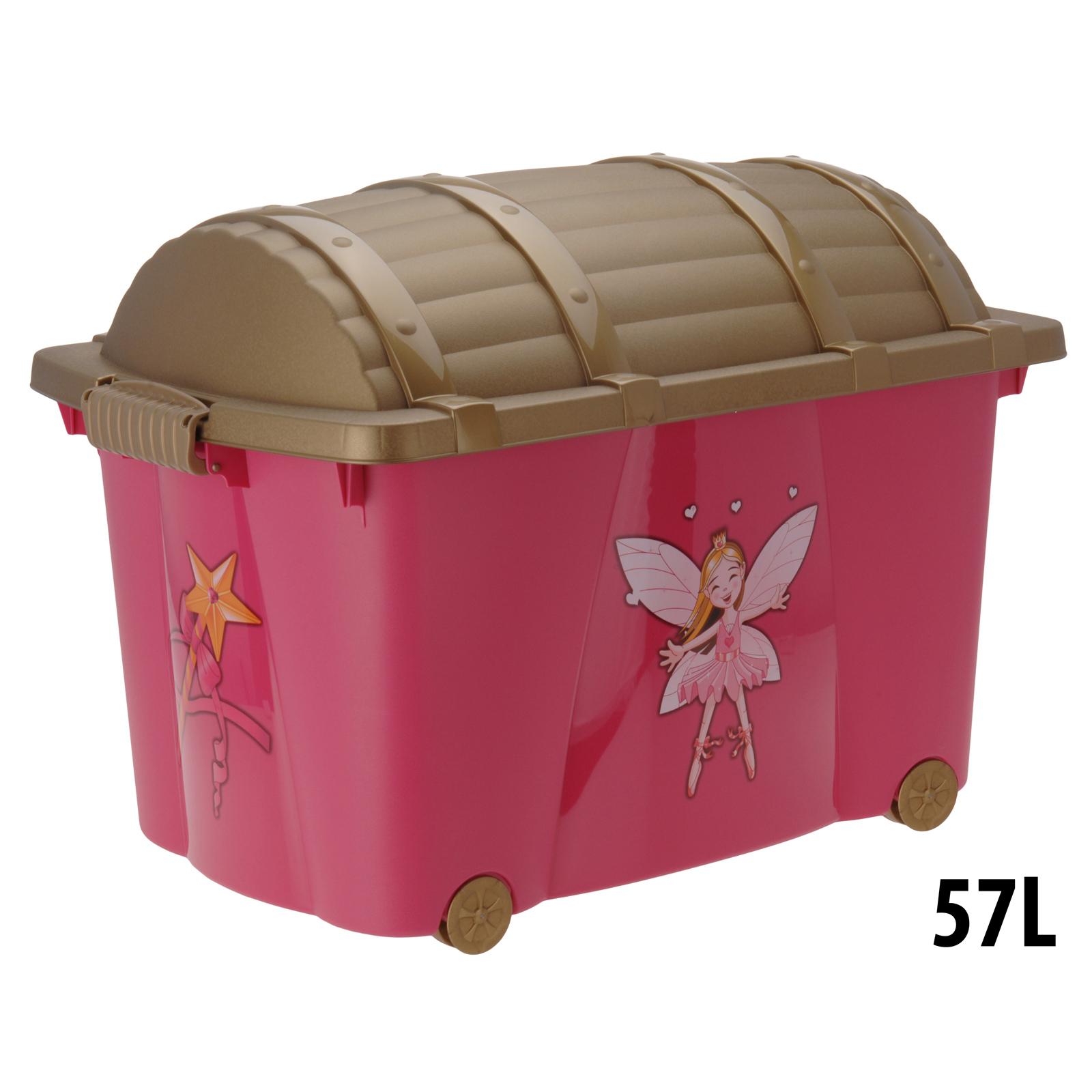 Super Treasure Chest Toy Box Fairy Girls Kids Storage Organizer  KY67