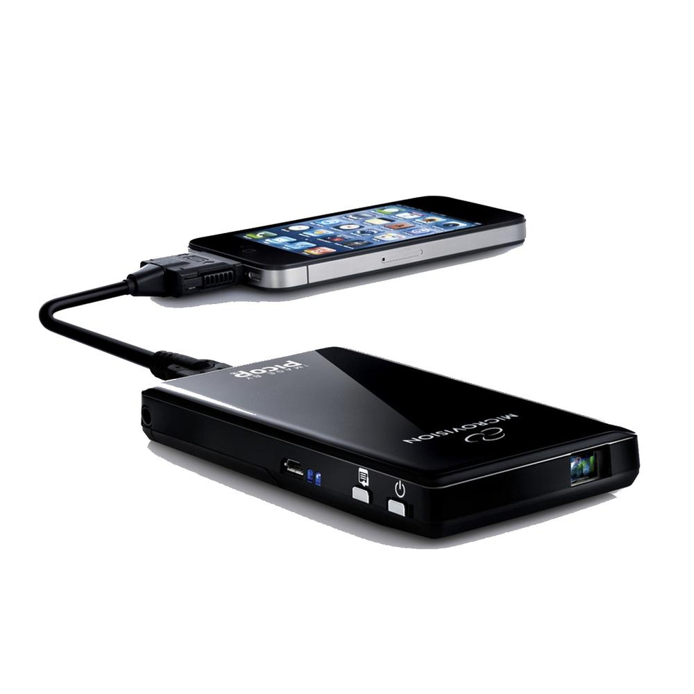 Microvision portable cinema theater multimedia showwx for Micro projector for ipad