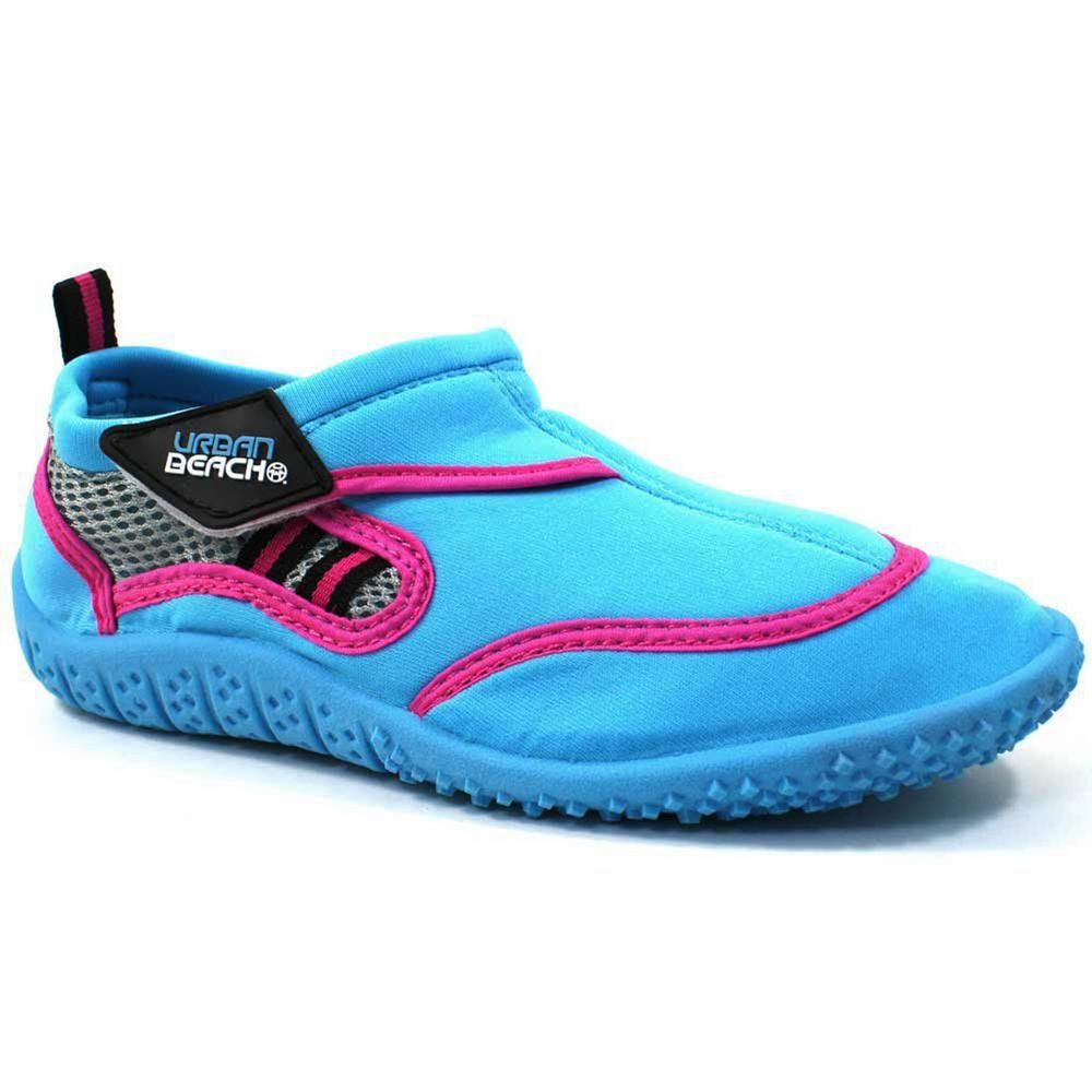 70eac784ccb Urban Beach Ladies Womens Waterproof Aqua Blue & Pink Shoes ...