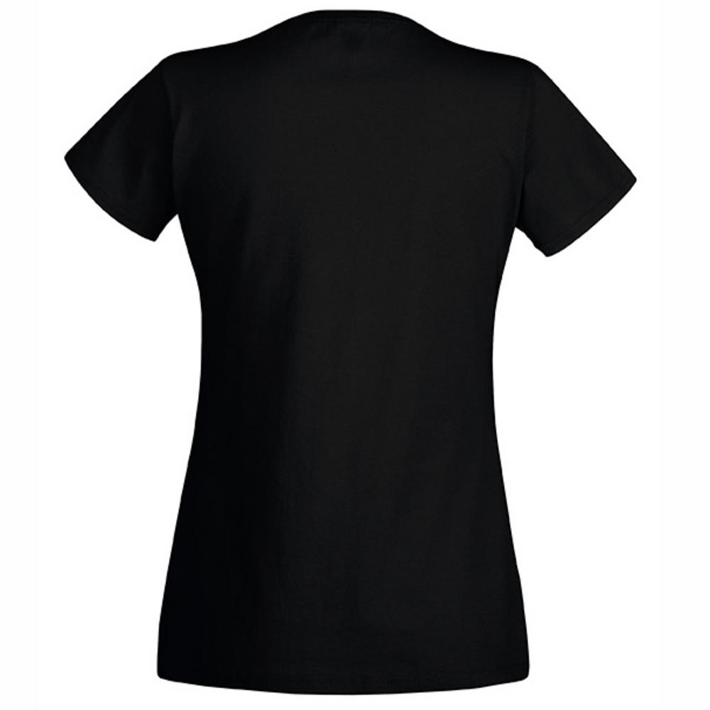 Fruit Of The Loom Fotl Womens T Shirt Ladyfit Cotton V