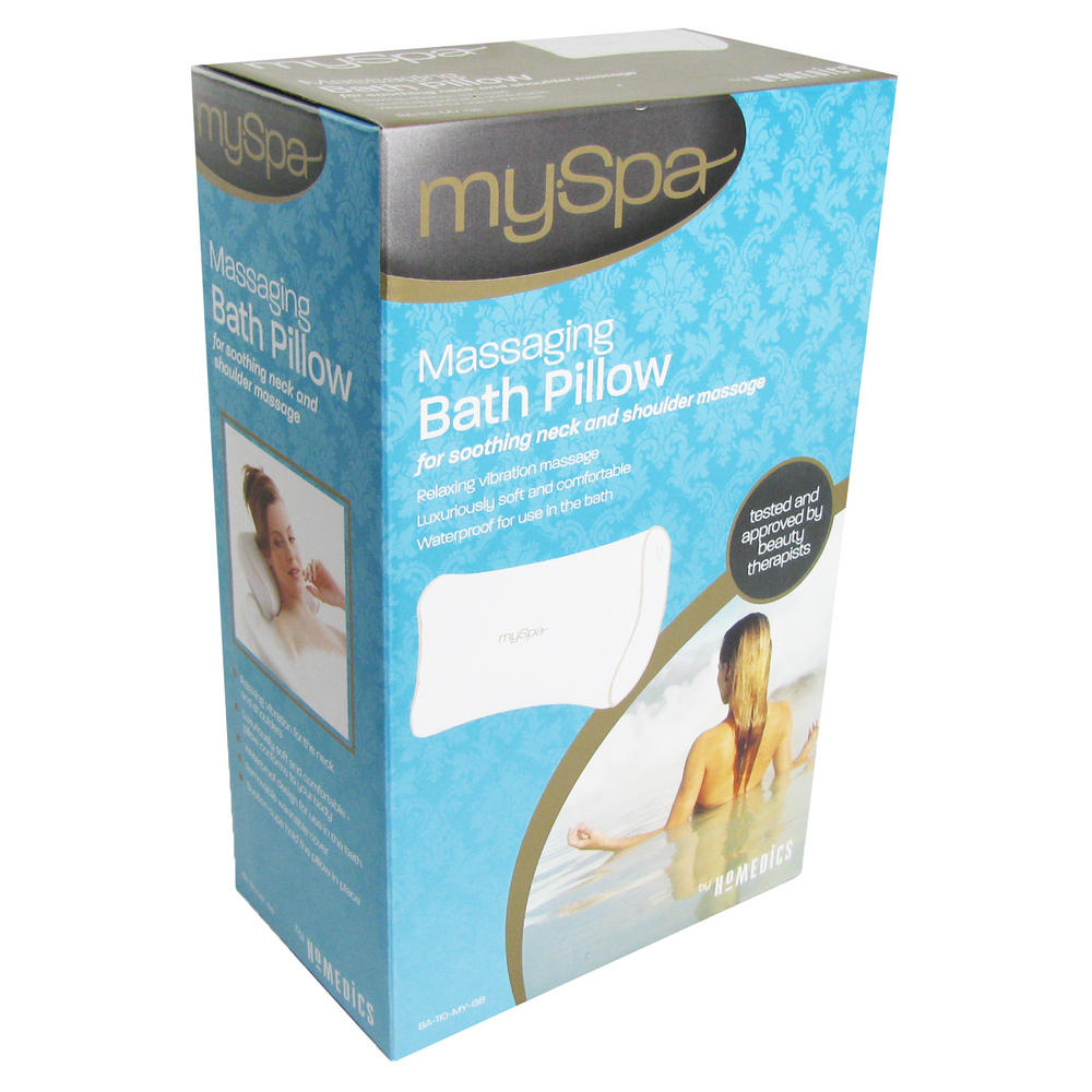 Homedics My Spa Vibrating Head & Neck Massaging Bath Cushion Pillow ...