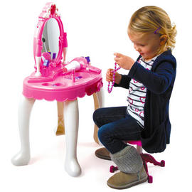 Toy Vanity Mirror Toyrific Glamour Girls Beauty Table Dressing Play Lights Music Preview