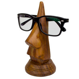 Wooden Glasses Stand Sunglasses Reading Vintage Retro Carved Urban Home Nose Preview