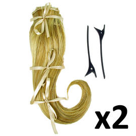 "Hair Extensions Clip In 2 Piece Ken Paves Hairdo Ginger Blonde Fashion 16"" x2 Preview"